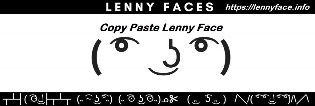 Copy Paste Lenny Faces